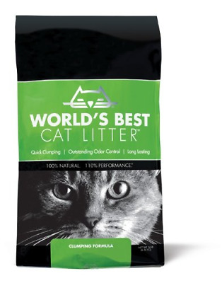100% Natural Quick Clamping Odourless Worlds Best Cat Litter, 6.35 kg - Original