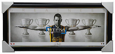 Luke Hodge Signed Mini Wings Hawthorn Print AFL Official Print Framed Norm Smith