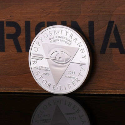 Masonic Pyramid Alloy Silver Plating Commemorative Coins Collection Craft Gifts