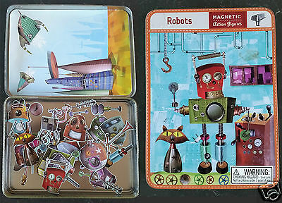 Used Robots Magnetic Action Figures Set