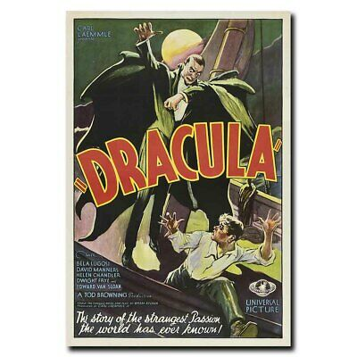 Dracula Vampire  24x16inch 1931 Old Horror Movie Silk Poster Vintage Style