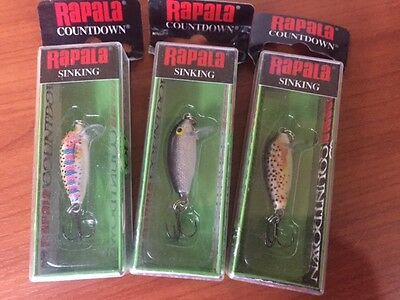 3 NEW Rapala Countdown CD-1 Lures 2.5cm