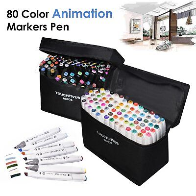 Marker Pen 168 80 60 40 Color Set Touch Alcohol Five Graphic Art Twin Tip Broad