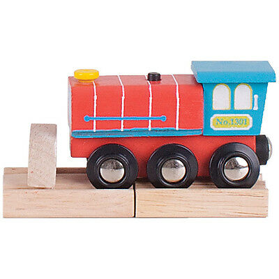 Bigjigs pista trenino in legno - locomotiva sonora BJT462 - Choo Choo Train