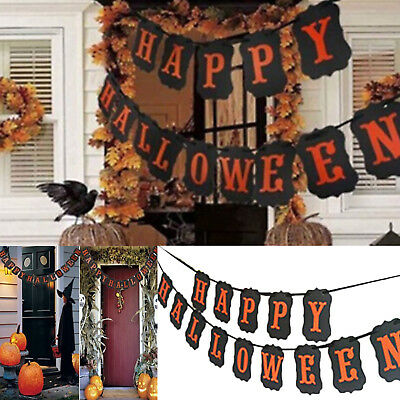 happy halloween retro silhouette string banners party home hanging decoration