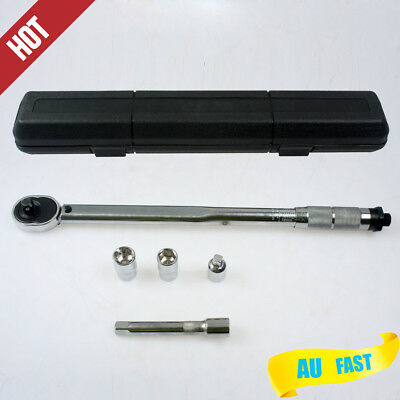 """AU Local Adjustable 1/2"""" and 3/8"""" Dual Drive Micrometer Torque Ratchet Wrench"""