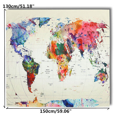 World Map Indian Tapestry Wall Hanging Hippie Mandala Bedspread Dorm Throw Decor
