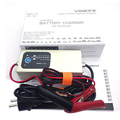 Vgate MXS 5.0 Smart Lead Acid Battery Charger Fully Automatic 12V 5A