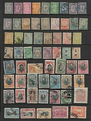 Early Bulgaria Stamps in Stock Sheets, Mint and Used