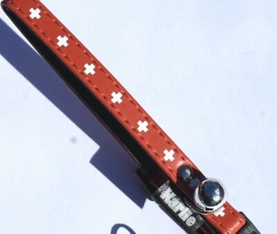 Safety Cat Collar Swiss Style Brown Collar With Snap Release Buckle