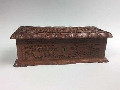 An Old Chinese Finely Carved Sandalwood Box