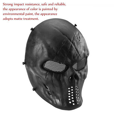 UNOMOR Airsoft Paintball Full Face Skull Skeleton CS Mask Tactical  Halloween