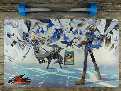 Trishula, Dragon of the Ice Barrier YuGiOh Custom Playmat Free High Quality Tube