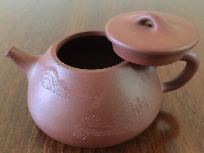 Chinese Yixing Zisha Purple clay Teapot handmade about 350ml