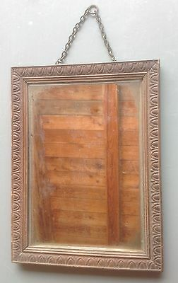 vintage French mirror with chain