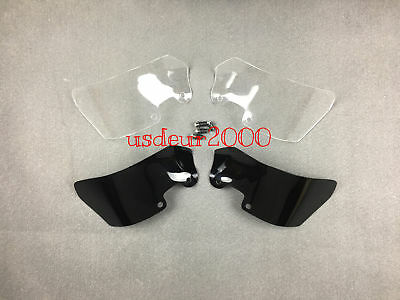 Touring Wind Deflectors Pair For BMW R1200GS Adventure Standard ABS Clear/Tinted