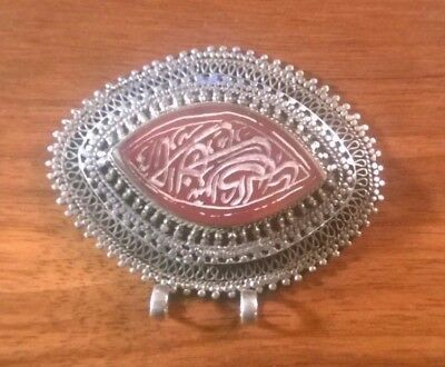 Antique Persian or Turk Silver Seal Pendent Caucasus Region Purchased in Israel