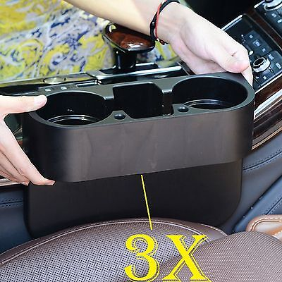 3Pieces Universal Cup Holder Car Van Storage Drinking Bottle Can Mug Mount Stand