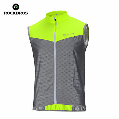 RockBros Cycling Vest Reflective Vest/Coat Sportswear Breathable Short Jersey XL