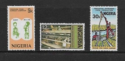 NIGERIA - mint 1974 Freedom From Hunger Campaign, set of 3, MNH MUH