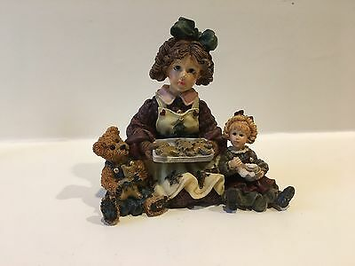 Boyds DOLLSTONE YESTERDAYS CHILD Jean Elliot & Debbie Baking Cookies #3510 NIB