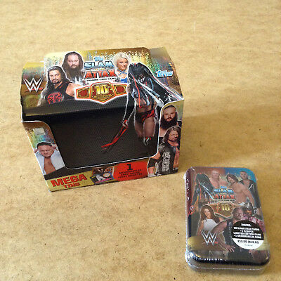 WW SLAM ATTAX 10th EDITION TRADING CARD MEGA TIN CONTAINS 60 TRADING CARDS