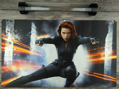 Marvel Comics Black Widow YuGiOh Mat VG/MTG/TCG Custom Playmat Free best tube