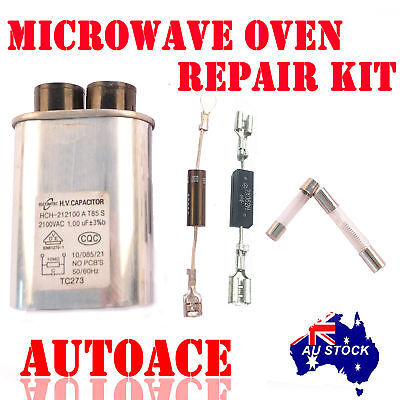 Microwave Oven Repair kit for Galanz Midea PanasonicLG fuse capacitor diode pins