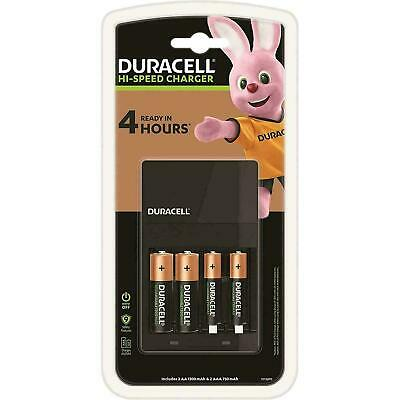 Duracell Hi-Speed Value AA/AAA Battery Charger CEF14 + 2 AA & 2 AAA Rechargeable