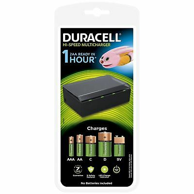 Duracell Hi-Speed 1 Hour MultiCharger for AA AAA C D & 9v Rechargeable Batteries