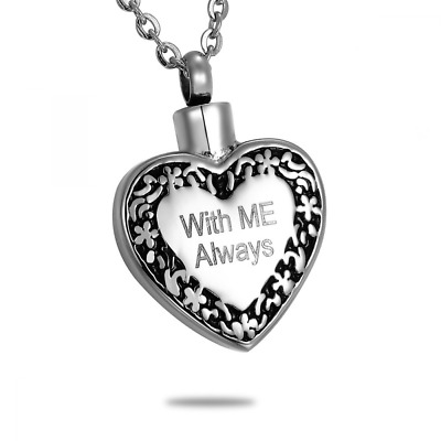 Ashes Necklace Cremation Urn Jewelry Pendant Memorial Engraved Personalized NEW