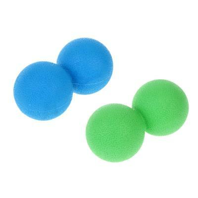 2x Double Lacrosse Massage Ball Myofascial Trigger Point Release Pain Relief