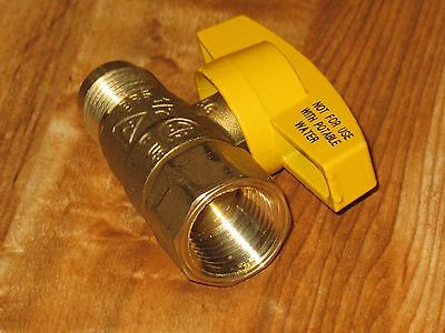 "Brass Craft 1/2"" FIP Gas Ball Valve for Water Heater, Range or Dryer PSSD-41"