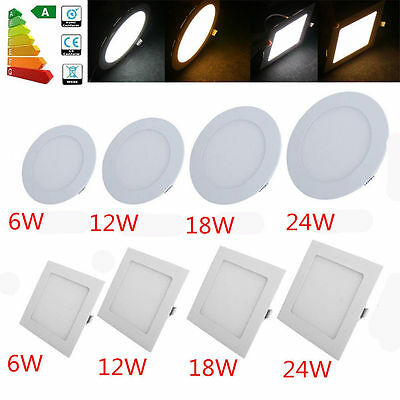 Dimmable Epistar Recessed LED Panel Light 6W 12W15W18W24W Ceiling Down Lights E1