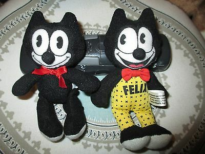 2- Vintage Felix The Cat 5 inch plush dolls