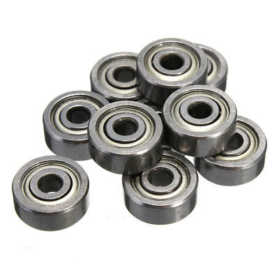 623ZZ 3x10x4mm Bearing Miniature Ball Shielded Radial Silver Industrial'