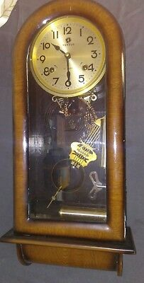 Antique Santos Wall Clock Chime And Wind