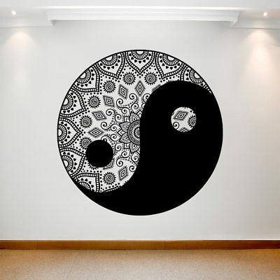 Large Wall Decal Sticker Art Removable Waterproof Vinyl Transfer Mandala Round