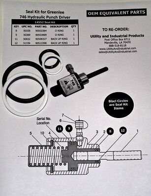 Seal Kit - Greenlee # 14552 (For #746 Hydraulic Punch Driver)