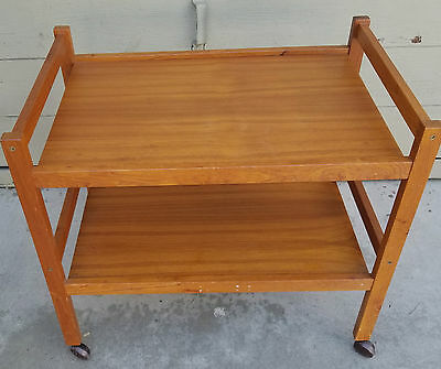 Vintage Mid Century Danish Modern Teak Tea Cart By Brdr Furbo Eames Era