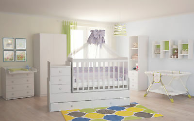Polini Kids Baby Kinderzimmer Set Simple in weiß 4-teilig