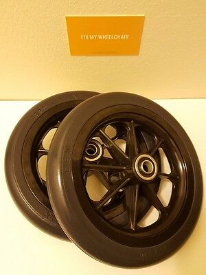 """New Pair 7 1/2"""" x 1 1/4""""  Front Caster Assembly Wheelchair Wheels RP265093"""