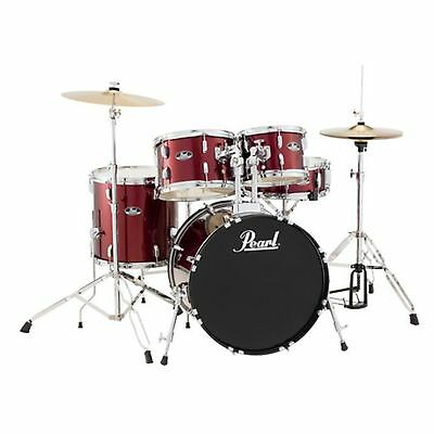 Pearl Roadshow RS505 5-Piece Drumset w/ Hardware & Cymbals - Wine Red