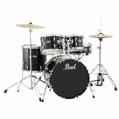 Pearl Roadshow RS505 5-Piece Drumset w/ Hardware & Cymbals - Jet Black