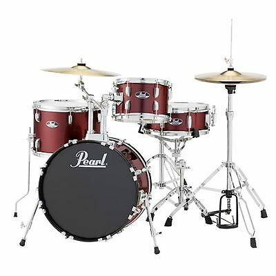 Pearl Roadshow RS584 4-Piece Drumset w/ Hardware & Cymbals - Wine Red