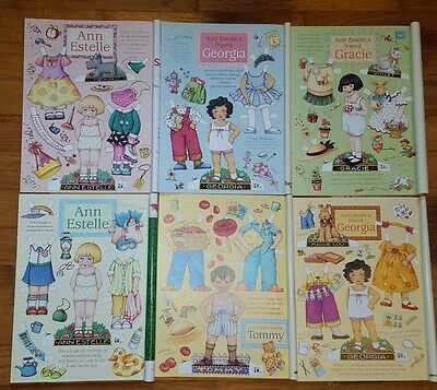 2000 complete set 6  MARY ENGELBREIT UNCUT PAPER DOLL SHEETS