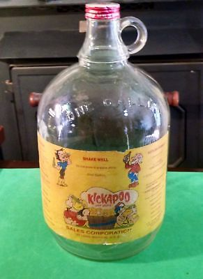 Kickapoo Joy Juice Soda Fountain Syrup Jug--With Royal Crown Cola Lid