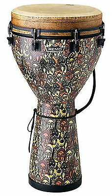 "Remo DJ-0010-LM 10"" Key Tuned Djembe, Multi-Mask Finish"