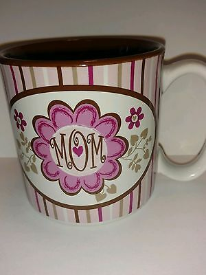 Burton & Burton awesome Mom collection coffee mug for mother pink and chocolate