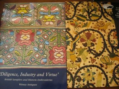2 Witney Antique Exhibition EMBROIDERY BRITISH SAMPLERS book history needlework